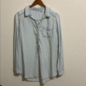 {Halogen} Classic Soft Denim Blouse or Dress